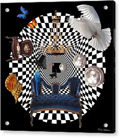 Mess In Wonderland  Acrylic Print by Mark Ashkenazi