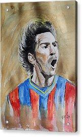 Messi Acrylic Print by Vidya Vivek