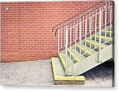 Metal Stairs Acrylic Print by Tom Gowanlock