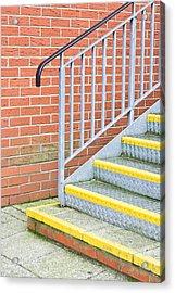 Metal Steps Acrylic Print by Tom Gowanlock