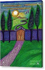 Metaphor Door By Jrr Acrylic Print by First Star Art