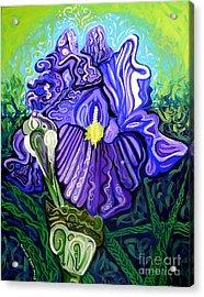 Metaphysical Iris Acrylic Print by Genevieve Esson