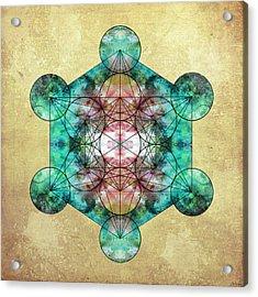 Metatron's Cube Acrylic Print by Filippo B