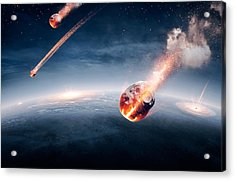 Meteorites On Their Way To Earth Acrylic Print by Johan Swanepoel