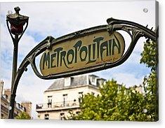 Metropolitain - Parisian Art Nouveau Acrylic Print by Georgia Fowler