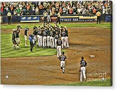 Mets Take Nl 2006 Acrylic Print by Chuck Kuhn