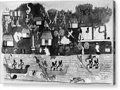 Mexico Mayan Village Acrylic Print by Granger