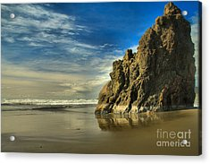 Meyers Beach Stacks Acrylic Print by Adam Jewell