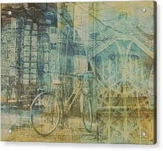 Mgl - City Collage - Paris 01 Acrylic Print by Joost Hogervorst