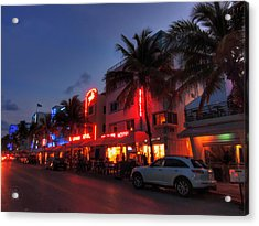 Miami - Deco District 015 Acrylic Print by Lance Vaughn