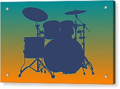 Miami Dolphins Drum Set Acrylic Print by Joe Hamilton