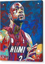 Miami Wade Acrylic Print by Maria Arango