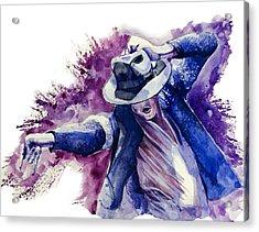 Michael Jackson 10 Acrylic Print by Bekim Art