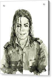 Michael Jackson 4 Acrylic Print by Bekim Art