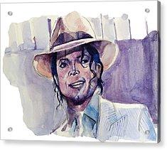 Michael Jackson 9 Acrylic Print by Bekim Art