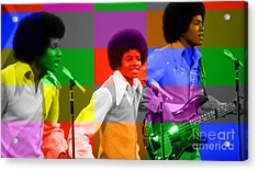 Michael Jackson And The Jackson 5 Acrylic Print by Marvin Blaine