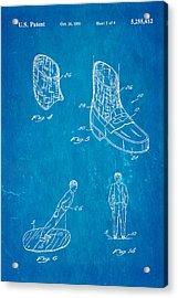 Michael Jackson Anti Gravity Boot 2 Patent Art 1993 Blueprint Acrylic Print by Ian Monk