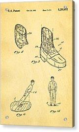 Michael Jackson Anti Gravity Boot 2 Patent Art 1993 Acrylic Print by Ian Monk