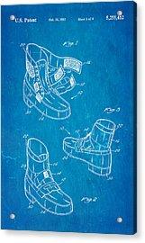 Michael Jackson Anti Gravity Boot Patent Art 1993 Blueprint Acrylic Print by Ian Monk