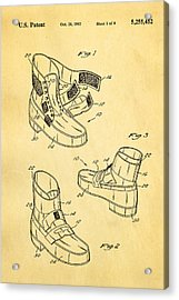 Michael Jackson Anti Gravity Boot Patent Art 1993 Acrylic Print by Ian Monk