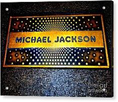 Michael Jackson Apollo Walk Of Fame Acrylic Print by Ed Weidman