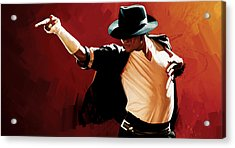Michael Jackson Artwork 4 Acrylic Print by Sheraz A