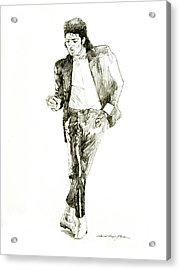 Michael Jackson Billy Jean Acrylic Print by David Lloyd Glover