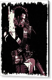 Michael Jackson Concert Poster Acrylic Print by Florian Rodarte