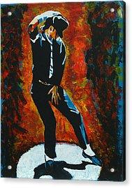 Michael Jackson Dancing The Dream Acrylic Print by Patrick Killian