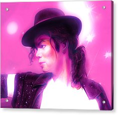 Michael Jackson King Of Pop Acrylic Print by Gina Dsgn