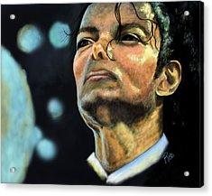 Michael Jackson Acrylic Print by Maria Schaefers