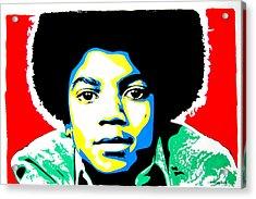 Michael Jackson Acrylic Print by Nancy Mergybrower