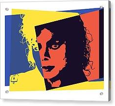 Michael Jackson Pop Art Acrylic Print by Dan Sproul