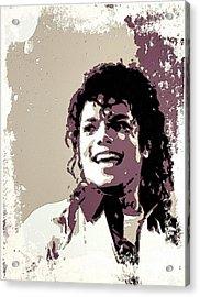 Michael Jackson Portrait Art Acrylic Print by Florian Rodarte