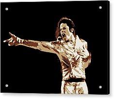 Michael Jackson Poster Art Acrylic Print by Florian Rodarte