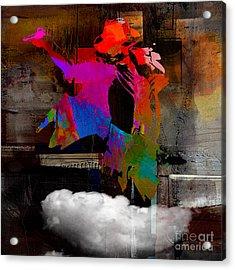 Michael Jackson Resurrected Acrylic Print by Marvin Blaine