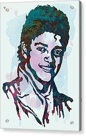 Michael Jackson Stylised Pop Art Poster Acrylic Print by Kim Wang