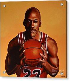 Michael Jordan 2 Acrylic Print by Paul Meijering