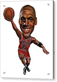 Michael Jordan Acrylic Print by Art