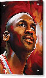 Michael Jordan Artwork 2 Acrylic Print by Sheraz A