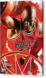 Michael Jordan Artwork 3 Acrylic Print by Sheraz A