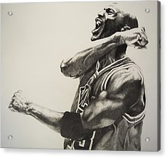 Michael Jordan Acrylic Print by Jake Stapleton