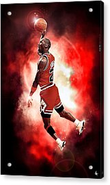 Michael Jordan Acrylic Print by NIcholas Grunas Cassidy