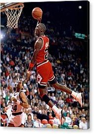 Michael Jordan  Acrylic Print by Paint Splat