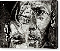Michael Jordan  Reversible Game Faces Acrylic Print by Israel Torres