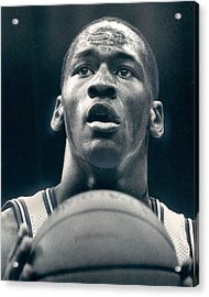 Michael Jordan Shots Free Throw Acrylic Print by Retro Images Archive