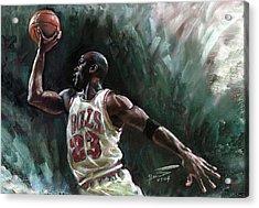 Michael Jordan Acrylic Print by Ylli Haruni
