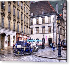 Michaelerplatz. Vienna Acrylic Print by Juli Scalzi