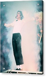 Micheal Jackson Performing On Stage Acrylic Print by Retro Images Archive