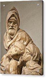 Michelangelo's Final Pieta Acrylic Print by Melany Sarafis